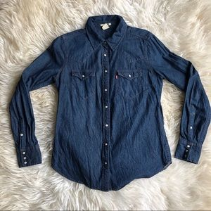 Levi's Denim Western Ling Sleeved Button Up M